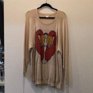 Cooperative fox oversize sweater